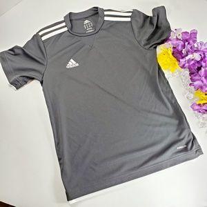 4/$25 Adidas Black Climate  Three Stripped Shirt
